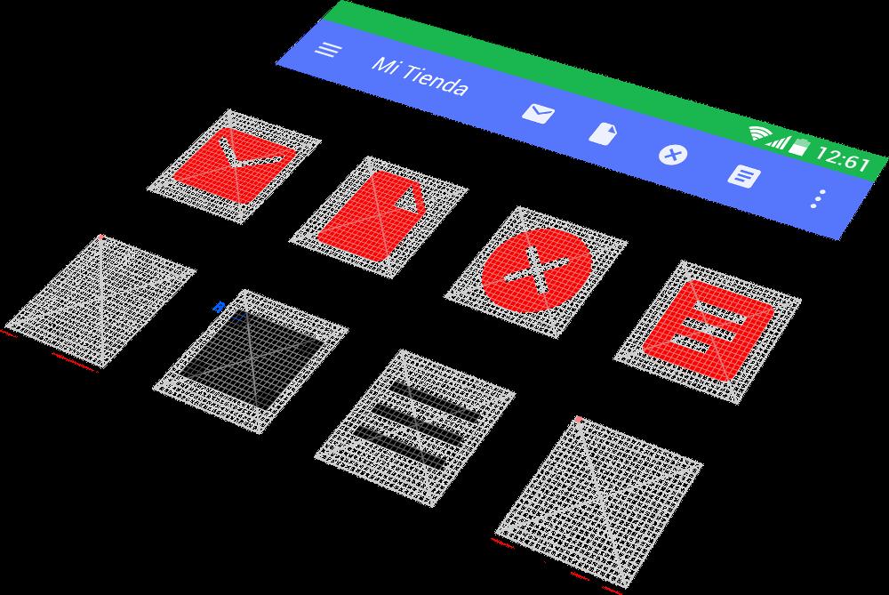 Diseño de grillas e iconos pixel perfect